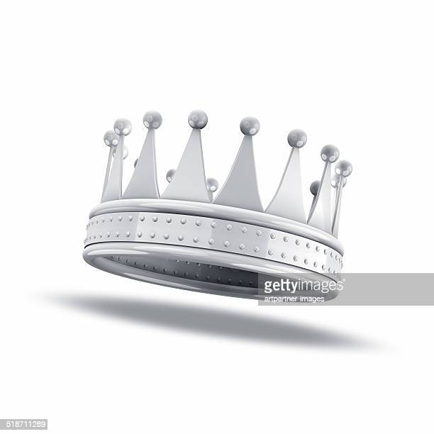 White crown on white background
