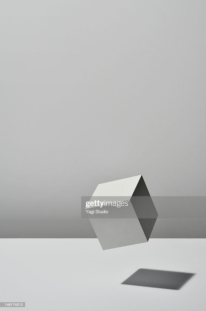 White Cube is floating on white background