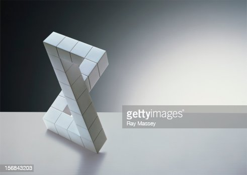 White cubes forming figure 8