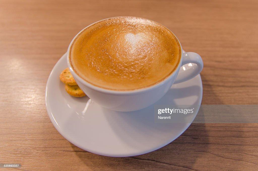 Weiße Tasse Kaffee : Stock-Foto
