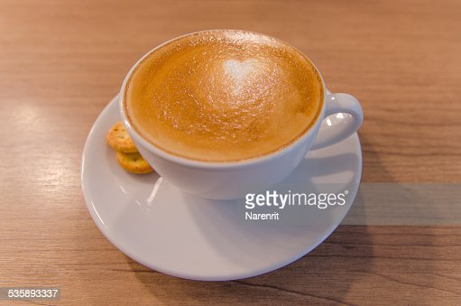 White cup coffee : Stock Photo