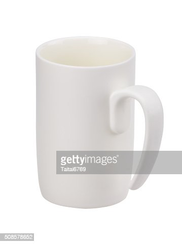Bianco tazza di caffè isolato : Foto stock