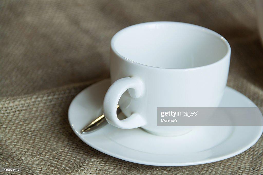 Blanco taza : Foto de stock
