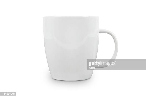 White Cup with space for logo - contains clipping paths.
