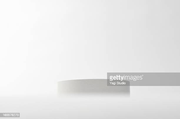 White cylinder and White background