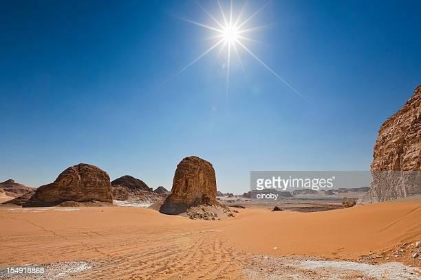 White Desert Sonne