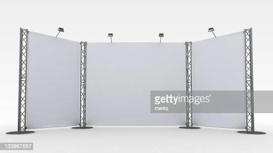 A white display stand in front of a white background