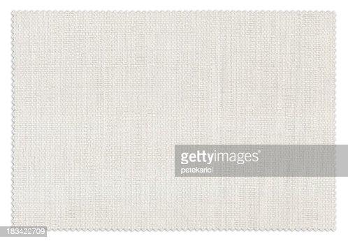White Fabric Swatch
