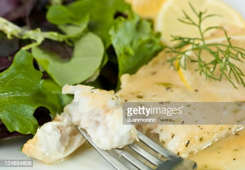 White Fish Fillet in lemon and herbs sauce