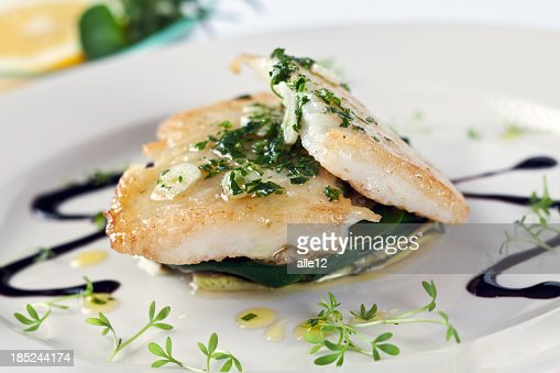 White fish on vegetable