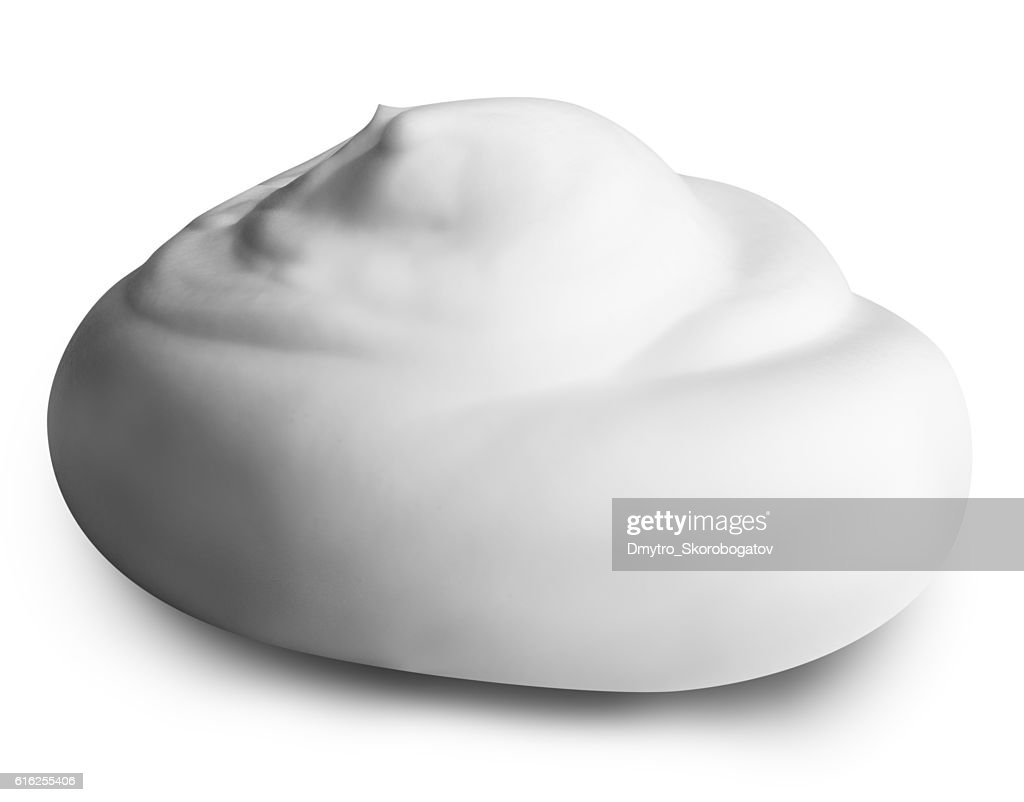 white foam isolated on white background with clipping path : Foto de stock