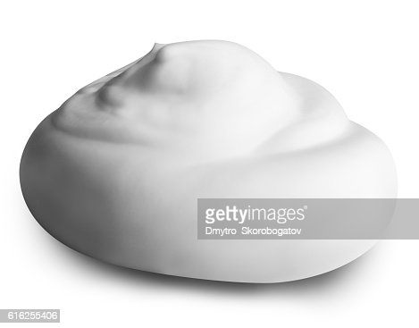 white foam isolated on white background with clipping path : Stock Photo