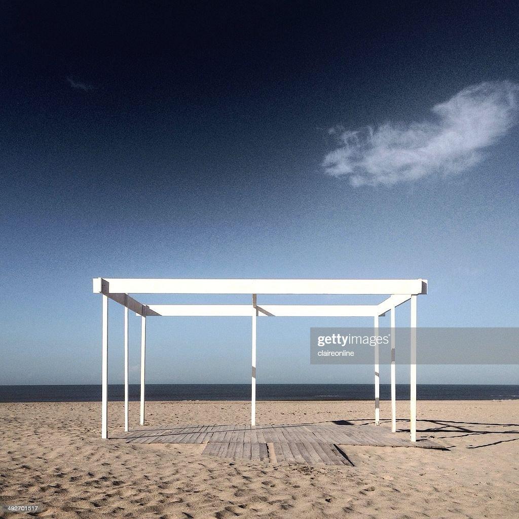White frame on beach : Stock Photo