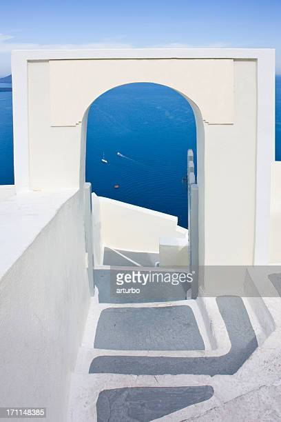 white gate to the blue