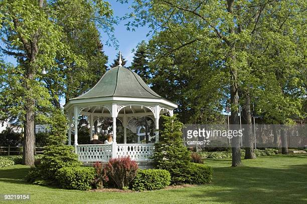 White Gazebo, Spring Romance in Lush City Park