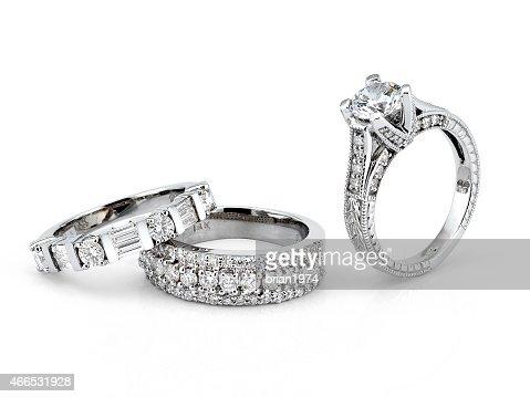 White Gold Diamond Rings : Stock Photo
