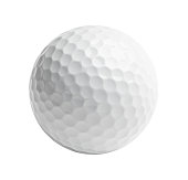 Professional golf ball Isolated on White Background.