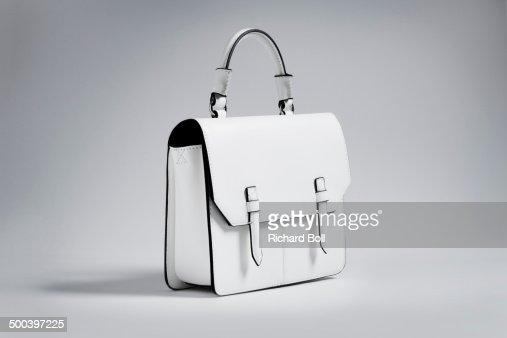White handbag on a white background