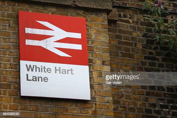 White Hart Lane station is seen prior to the Barclays Premier League match between Tottenham Hotspur and Stoke City at White Hart Lane on August 15...