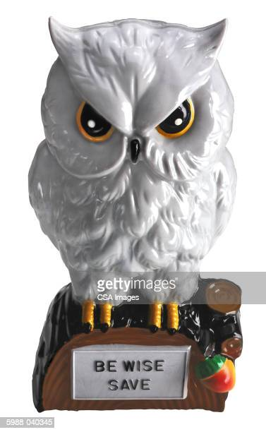White Horned Owl Figurine