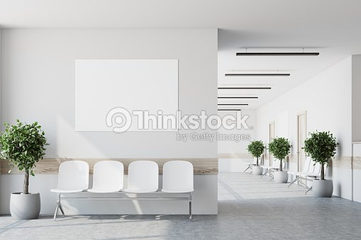 White hospital lobby, poster : Stock Photo