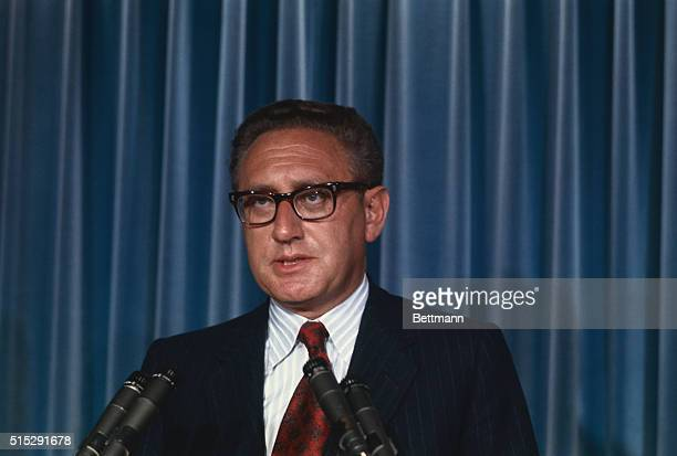 White House advisor Henry A Kissinger tells newsmen at the White House 10/27 that President Nixon will journey to Peking early next year and provide...
