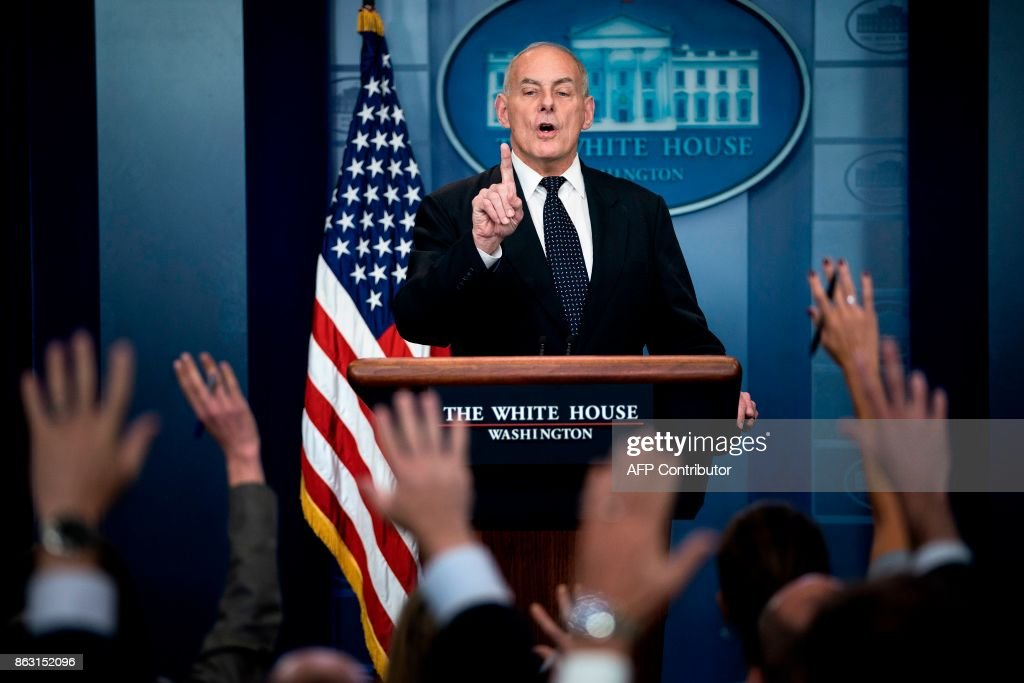 Chief Of Staff John Kelly Addresses White House Press Briefing