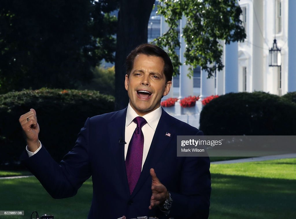 White House Communications Director Anthony Scaramucci Interviewed By Television Reporter At The White House