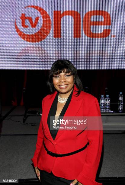 White House Correspondant April Ryan of American Urban Radio Networks attends the TV One Network 2009 TCA Presentation which took place at The...