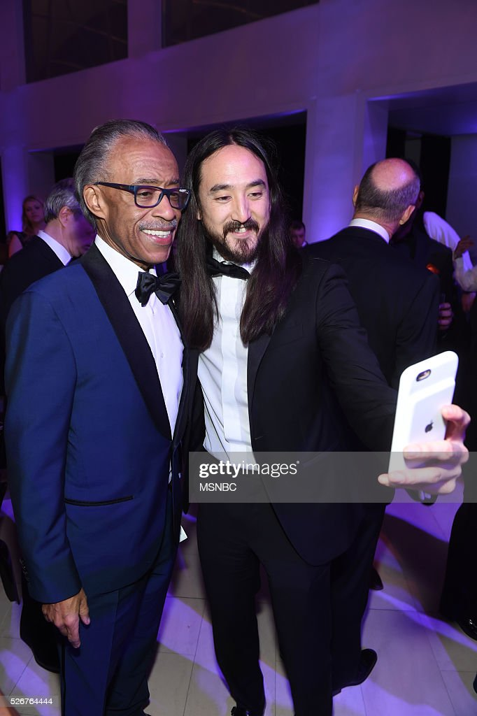 EVENTS -- White House Correspondents' Dinner MSNBC After-Party -- Pictured: (l-r) Rev. Al Sharpton, musician Steve Aoki --