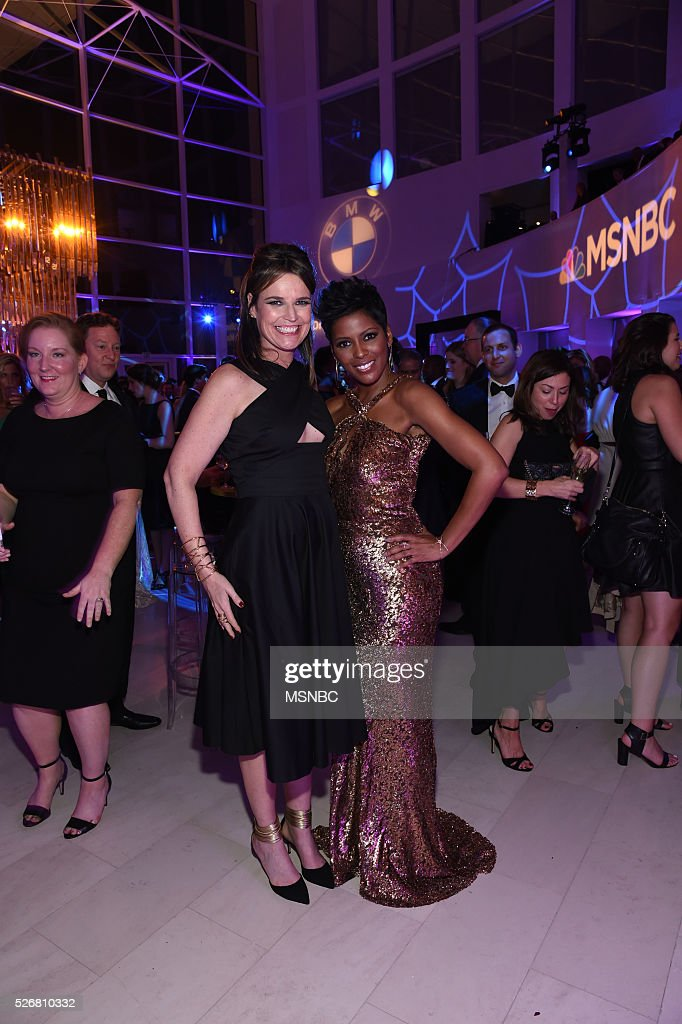 EVENTS -- White House Correspondents' Dinner MSNBC After-Party -- Pictured: (l-r) Savannah Guthrie and Tamron Hall --
