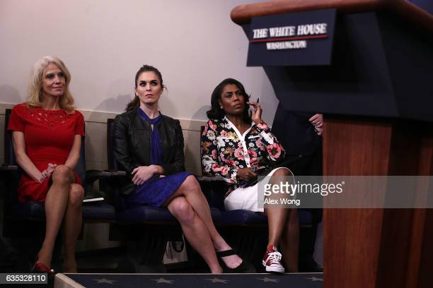 White House Counselor Kellyanne Conway Hope Hicks White House Director of Strategic Communications and Omarosa Manigault Director of Communications...