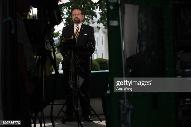 White House Deputy Assistant To The President Sebastian Gorka speaks as he is interviewed by Fox News remotely from the White House June 22 2017 in...