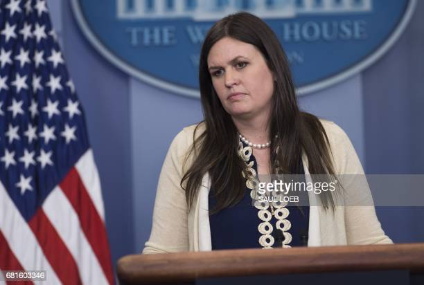 White House Deputy Press Secretary Sarah Huckabee Sanders speaks during the daily press briefing in the Brady Press Briefing Room at the White House...