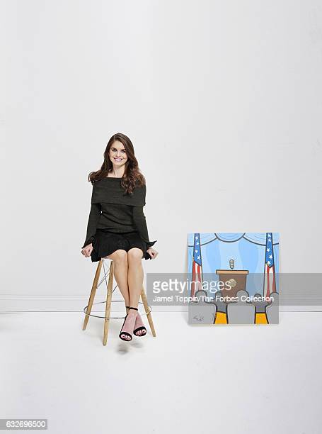 White House Director of Strategic Communications Hope Hicks is photographed for Forbes Magazine on November 29 2016 in New York City PUBLISHED IMAGE...