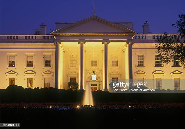 White House in evening Washington DC