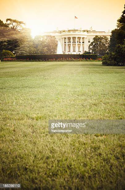 White House in Washington DC の夕暮れ
