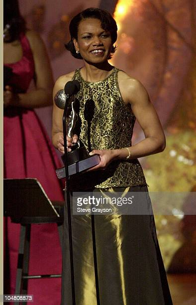 White House National Security Advisor Condoleezza Rice receives the President's Award at the 33rd NAACP Image Awards at the Universal Amphitheater in...