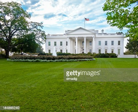 white house north facade under magnificent sky stock photo getty images. Black Bedroom Furniture Sets. Home Design Ideas