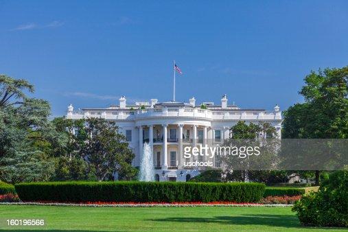 White House on a Clear Sky