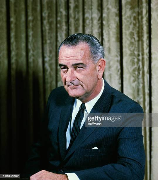 White House portrait of US President Lyndon B Johnson