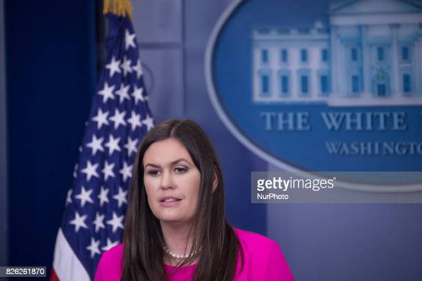 White House Press Secretary Sarah Huckabee Sanders delivered an oncamera press briefing in the James S Brady Press Briefing Room of the White House...