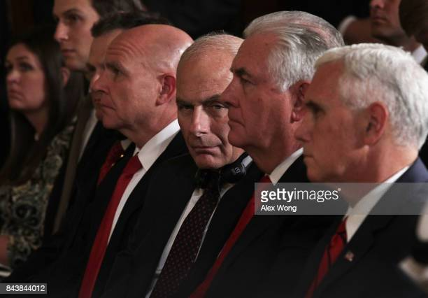 White House Press Secretary Sarah Sanders Senior Adviser Jared Kushner National Security Adviser HR McMaster White House Chief of Staff John Kelly US...