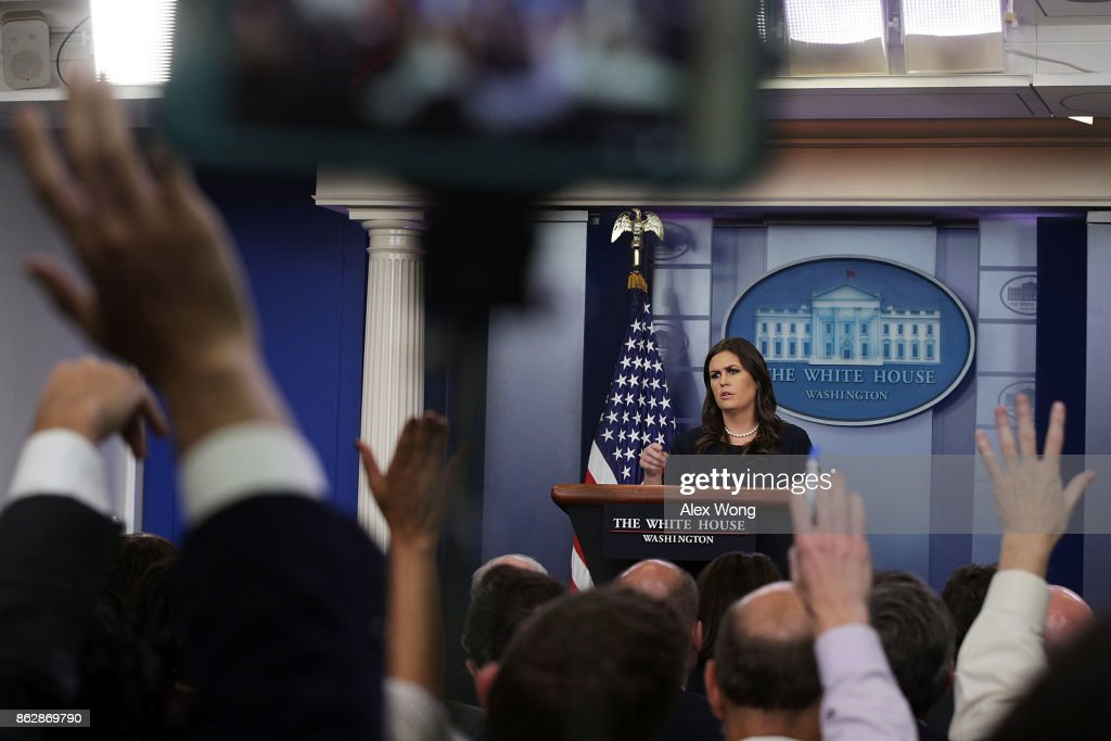 White House Press Secretary Sarah Sanders Holds Daily Press Briefing