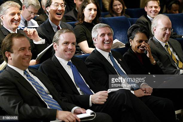 White House Press Secretary Scott McLellan Communication Director Dan Bartlett Chief of Staff Andrew Card National Security Advisor Condoleezza Rice...