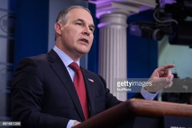 White House Press Secretary Sean Spicer and Administrator of the Environmental Protection Agency Scott Pruitt delivered the press briefing in the...