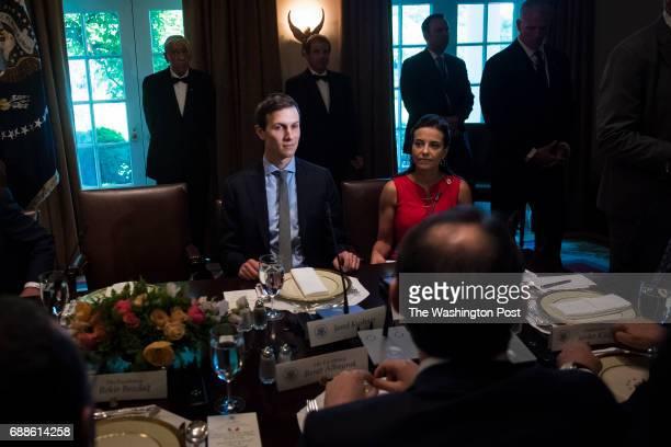 White House senior adviser Jared Kushner listens during a working luncheon with President Donald Trump and Turkish President Recep Tayyip Erdogan in...