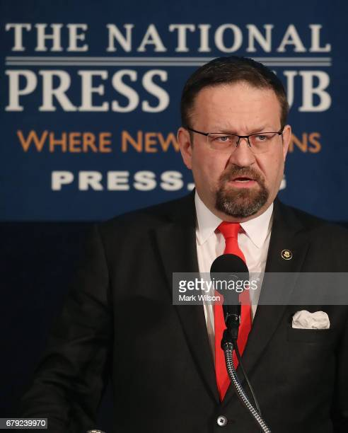 White House terrorism advisor Sebastian Gorka speaks at the The Republican National Lawyers Association 2017 National Policy Conference on May 5 2017...