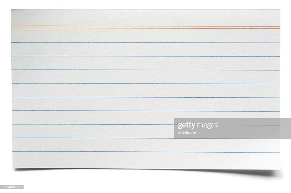 Old, Yellowing Index Card Stock Photo - Image: 14955380