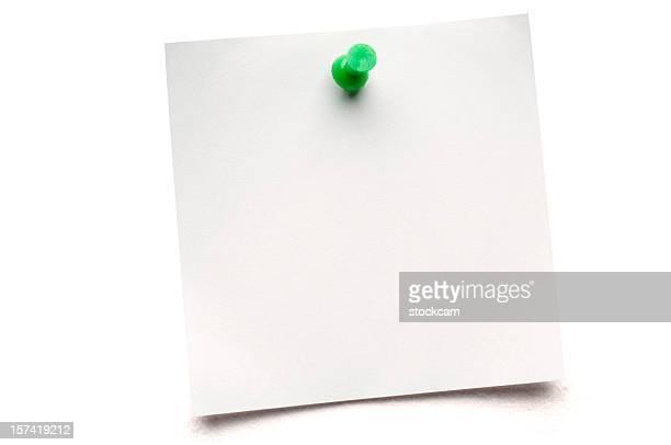 Bianco isolato Postit nota